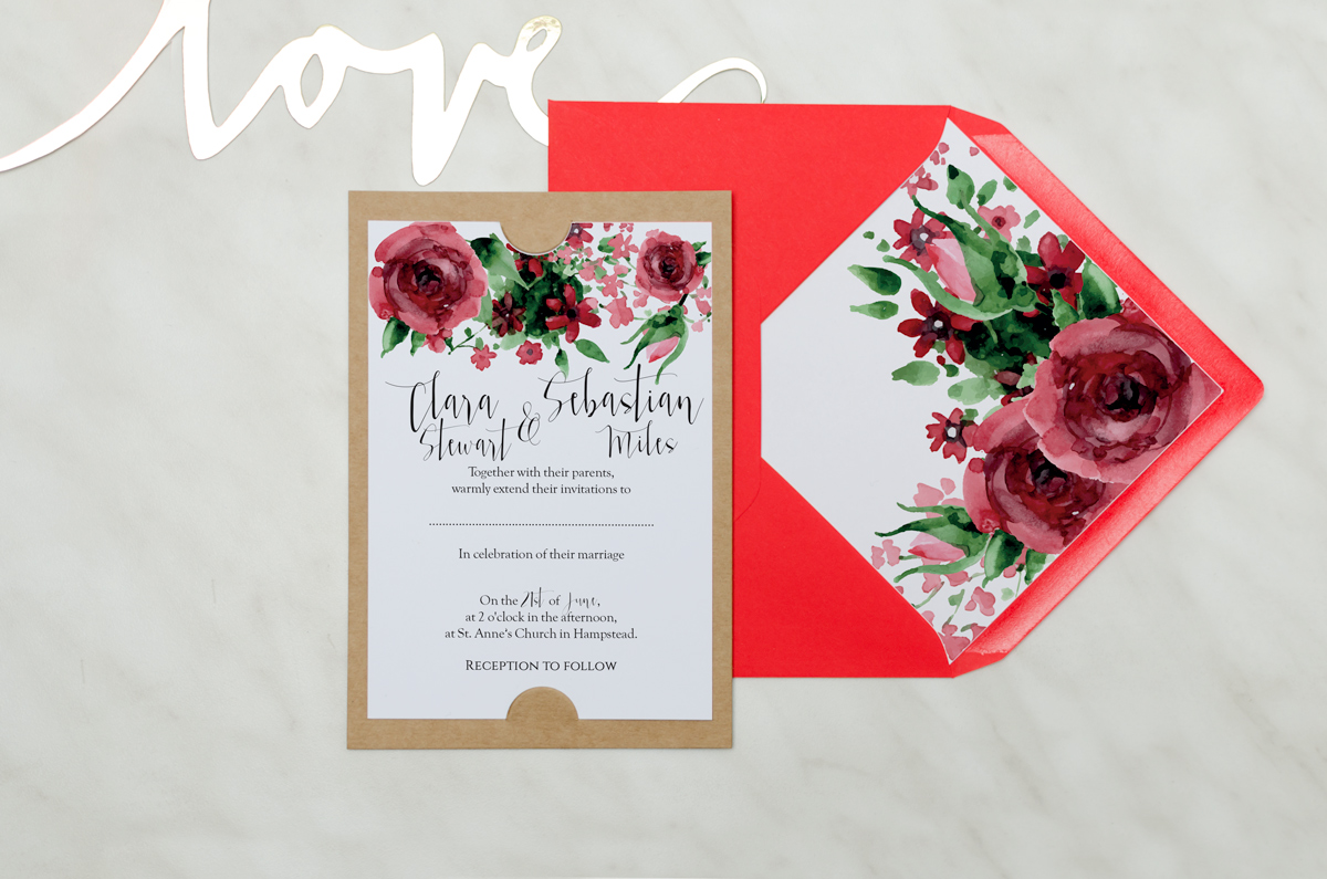 Everlasting Love Invitation #1 - AliceInvitations.co.uk