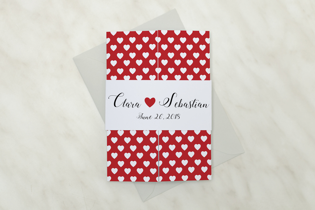 Love\'s Devotion Invitation #1 - AliceInvitations.co.uk