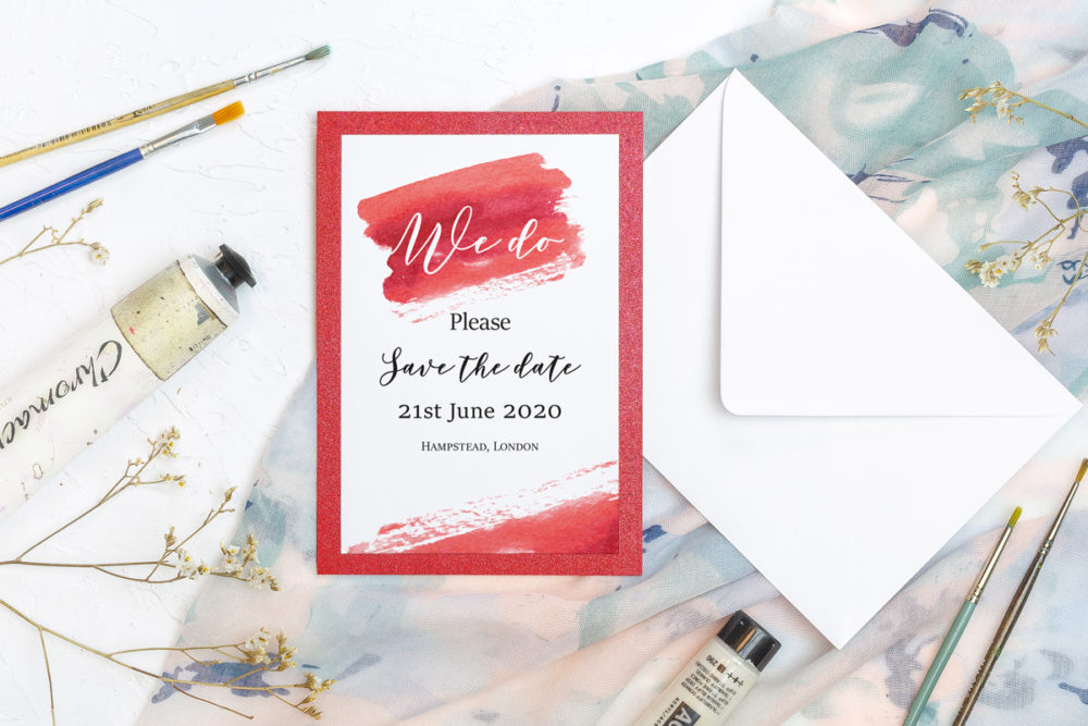 red-watercolor-save-date-paper-matte-white-pad-red-pearl-b6-envelope-without-envelope