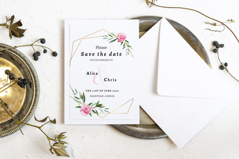 pink-flower-crown-elegant-save-date-paper-matte-white-pad-white-b6-envelope-without-envelope