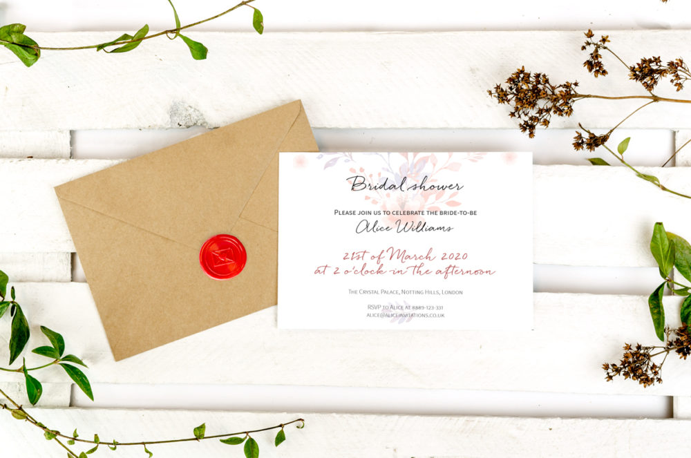 beige-flowers-photo-bridal-shower-paper-matte-white-envelope-eco-sealing-wax-red-nvelope