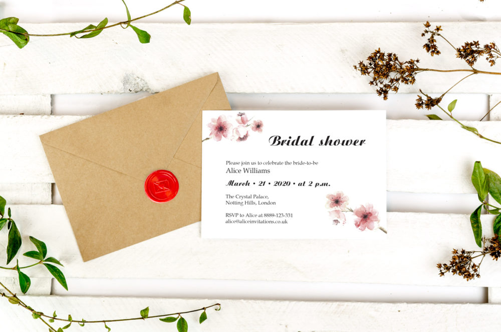 cherry-blossoms-photo-bridal-shower-paper-matte-white-envelope-eco-sealing-wax-red-nvelope