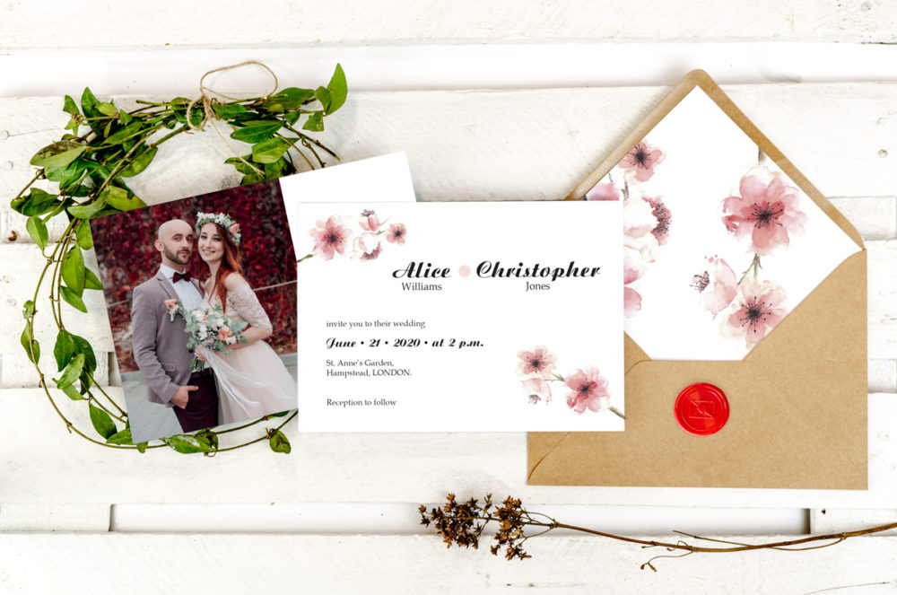 cherry-blossoms-photoinviation-envelope-paper-matte-white-envelope-eco-b6-with-envelope-liner-cherry-blossoms-sealing-wax-red-nvelope