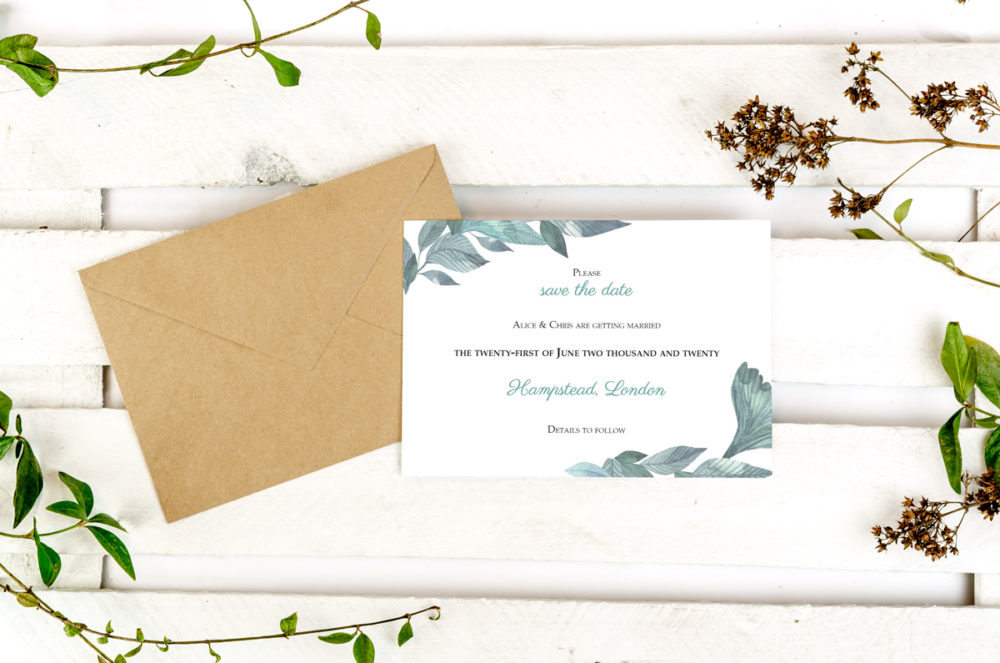 green-leaves-photo-save-date-paper-matte-white-envelope-eco-sealing-wax-without-sealing-wax