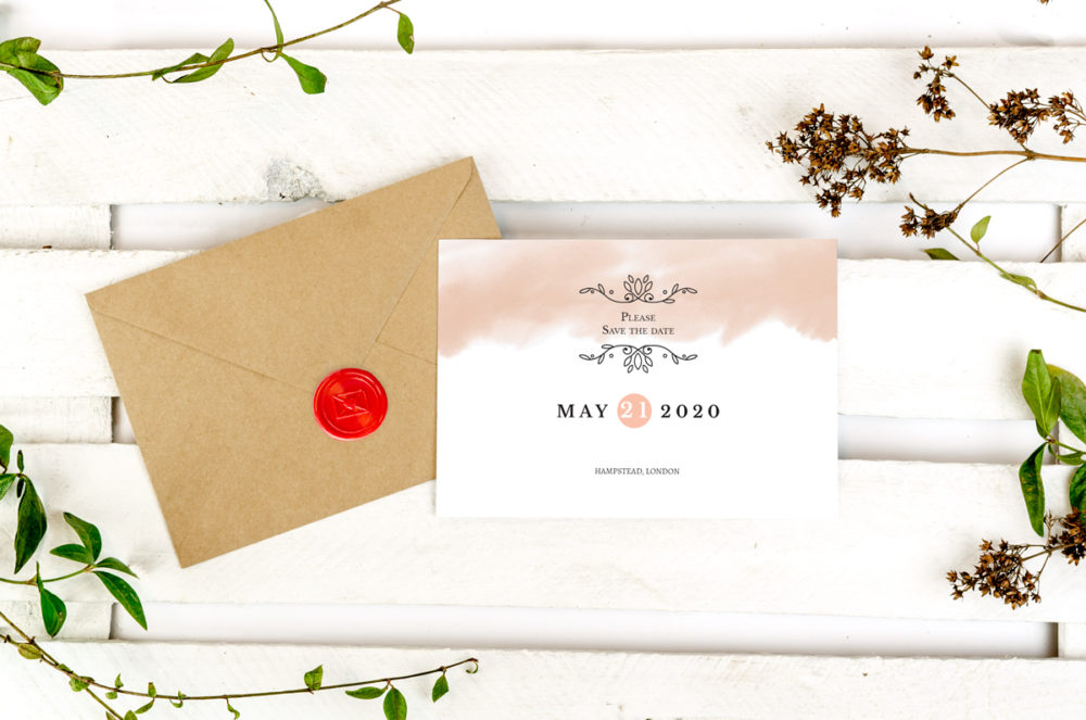 watercolor-photo-save-date-paper-matte-white-envelope-eco-sealing-wax-red-nvelope